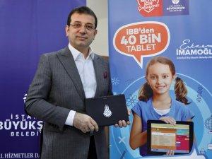 İBB den öğrencilere 40 bin tablet