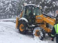 Pendik'te 24 saat karla mücadele ekipleri çalışıyor