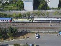 Tuzla'da Tren facia son anda önlendi